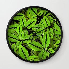 Nature Print Pattern Wall Clock