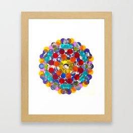 rainbow cloud cluster collage Framed Art Print