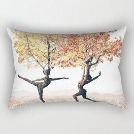 Dancing trees Rectangular Pillow