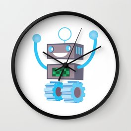 Robot winner Wall Clock