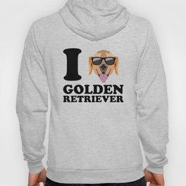 I Love Golden Retriever modern v1 Hoody
