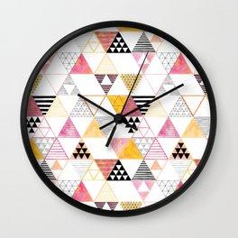 triangles #3 Wall Clock