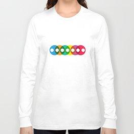 Geometric Pattern #64 (colorful bubbles) Long Sleeve T-shirt