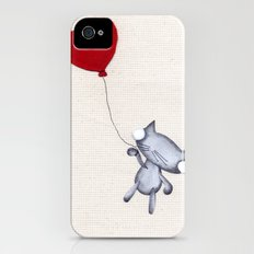 Zombie Kitty Flies Away On Valentines Day Slim Case iPhone (4, 4s)