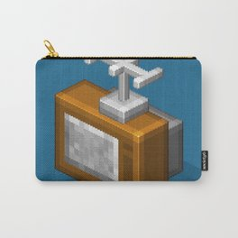 Retro TV television pixel art Carry-All Pouch