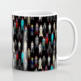 Heroes Scattered Pattern Black Coffee Mug
