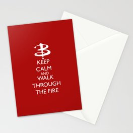 Walk through the fire Stationery Cards