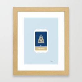 San Diego Baseball Ticket (17 of 30) Framed Art Print