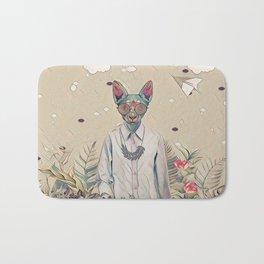 Floral cat Bath Mat