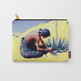 """William Leigh Western Art """"Gathering Peyote"""" Carry-All Pouch"""