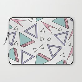 ABSTRACT RETRO 80s / 90s SHAPE PATTERN Laptop Sleeve