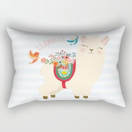 Llamaste - When A Llama Offers You A Respectful Greeting Rectangular Pillow