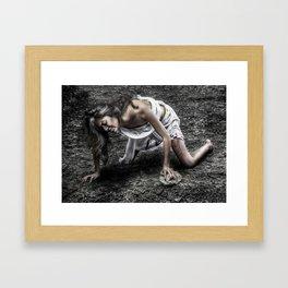 The pain of sin Framed Art Print