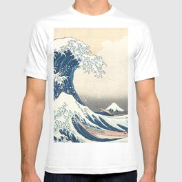 The Great Wave off Kanagawa by Katsushika Hokusai from the series Thirty-six Views of Mount Fuji T-shirt