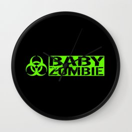 Baby Zombie: Biohazard Wall Clock