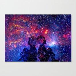 Little Star Gazers Canvas Print