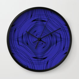 Classic Blueberry Blue Wall Clock