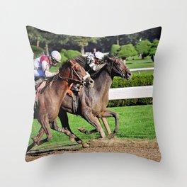 Travers Stakes Throw Pillow