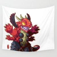 kaiju Wall Tapestries featuring Hanjimora by Jordan Lewerissa