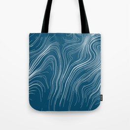 Abstract Lines And Waves Art Retro Pattern Tote Bag