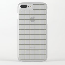 Windowpane\\Gray Clear iPhone Case