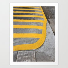 Yellow Crosswalk Art Print