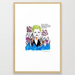 escondete Framed Art Print