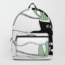 Cacti & Coffee LUVA - Digital Vector Illustration Home Goods Design Backpack