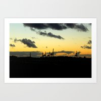 industrial Art Prints featuring Industrial by MKMalesevich