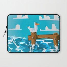 Cute Seagull Cartoon. Laptop Sleeve