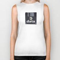data Biker Tanks featuring data  by dogbauu