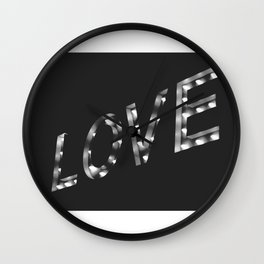 Love in Lights Wall Clock