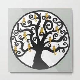 Cat Tree of Life Metal Print
