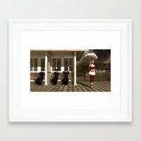 scandal Framed Art Prints featuring The victorian scandal by Britta Glodde