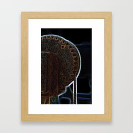 Circular Corrosion Framed Art Print