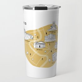 Mapping Roma - Yellow Travel Mug