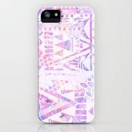 Pink purple iridescent ethnic pattern iPhone Case