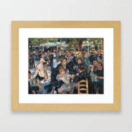 Bal du moulin de la Galette, Auguste Renoir, 1876 Framed Art Print