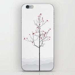 Twig Tree - Crimson iPhone Skin