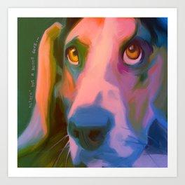 Hound Dawg Art Print