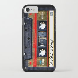 Retro cassette mix tape iPhone Case