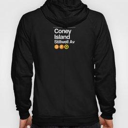 subway coney island sign Hoody
