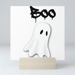 Halloween ghost theme tshirt  Mini Art Print