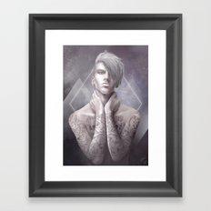 Dans la peau Framed Art Print