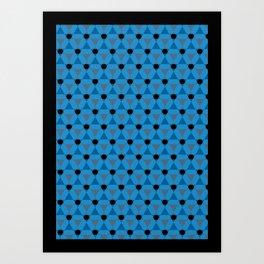 Reception retro geometric pattern Art Print