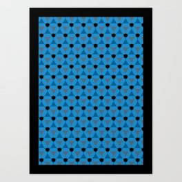 Reception retro geometric pattern Art Print