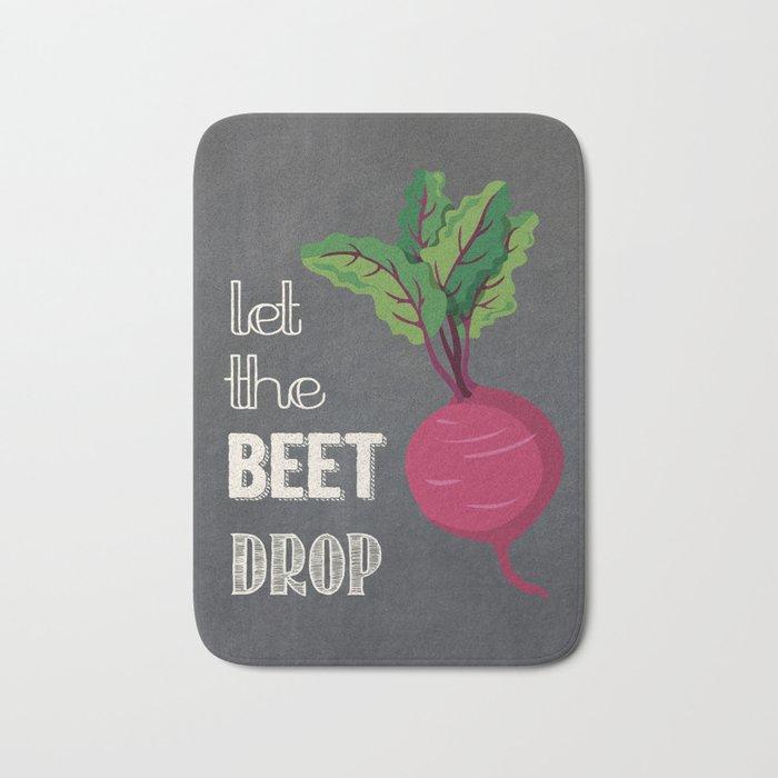 Let the Beet Drop Bath Mat