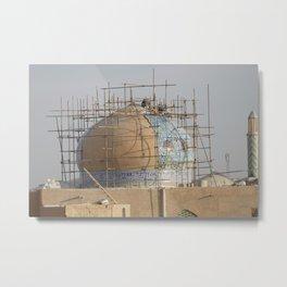 Fixing the Dome   Yazd (Iran) Metal Print