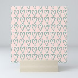 Love Heart Pattern - Mix & Match with Simplicty of life Mini Art Print