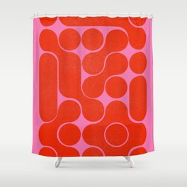 Abstract mid-century shapes no 6 Shower Curtain